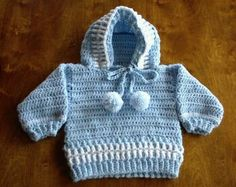 Baby Boy Sweater Patterns Free | Hooded baby sweater crochet in Baby & Kids' Sweaters - Compare