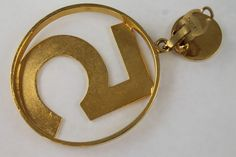 Chanel No. 5 Earrings Gold Hoop Iconic Vintage Earrings featuring iconic Number 5 | Rare & Collectable