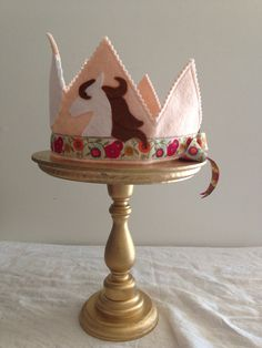 Horse Birthday Party Felt Birthday Crown by mosey on Etsy, $32.00