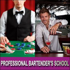 Up to 93% Off Bartending or Casino Dealer Courses - 3 Options. #sandiego #bartending #school #deal #casinodealer #classes
