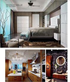 grey and light blue Wave Rock, Florida Design, Quartz Countertops, Condominium, Kitchen Organization, Master Bedroom, Work Stations, Storage, Cabinets