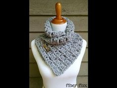 Learn how to crochet the Tweedy Twig Cowl with this easy tutorial! Full written pattern here: http://www.fiberfluxblog.com/2014/09/free-crochet-patterntweedy...