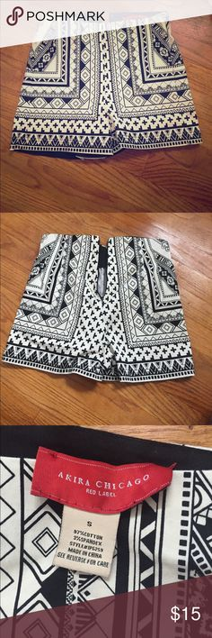 Aztec high waisted shorts Zipper in the back, can dress up or down! No stains, gently used AKIRA Shorts