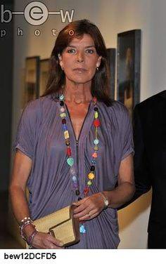 Carolina en un exposición en Mónaco en 2011.