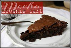 The V Spot: Mocha Brownie Tart - yummy in my tummy.