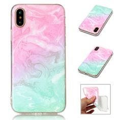 For iPHONE Xs Max Marble Colorful Slim Rubber Soft TPU Silicone Back Case Cover Pink Iphone, New Iphone, Apple Iphone, Iphone 11 Pro Case, Iphone Case Covers, Pixel Phone, Phones For Sale, Kate Spade Iphone
