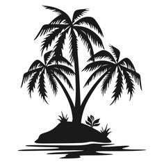 free svg files for cricut Palm Tree Beach Silhouette, Palm Tree Silhouette, Palm Tree Drawing, Palm Tree Clip Art, Palm Tree Island, Tree Stencil, Stencils, Tree Svg, Shadow Art