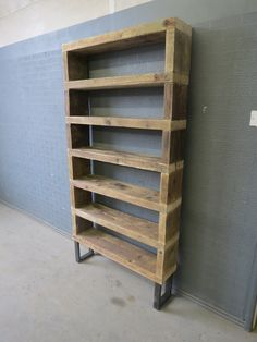 Industrial Chic Reclaimed Custom Steel and Wood Bookcase Shelving Unit.DVD Books Cafe Restaurant Furniture Rustic Chic, Sheffield UK