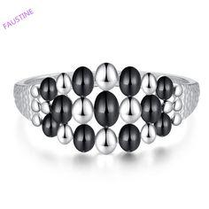 Viennois fashion platinum black oil drop fashion lady's new choice high quality bracelet