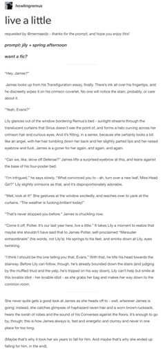 James and Lily - click on the photo and read the whole thing!