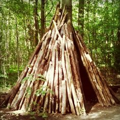 I discovered this Tipi in the woods close to where I live