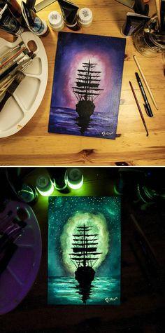 Картины, которые светятся в темноте