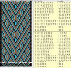 38 tarjetas, 4 colores, repite cada 24 movimientos // sed_314 diseñado en GTT༺❁