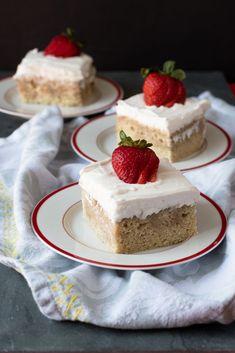 Vegan Tres Leches Cake - Thyme & Love