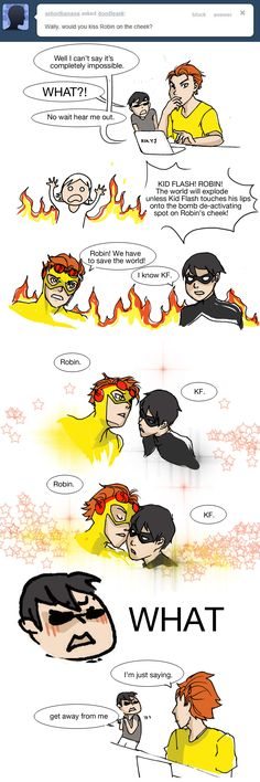 Normally don't go for birdflash type of stuff, but this is kinda funny (RobinxKF, YJ)