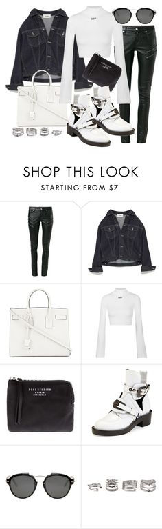 """""""Untitled #21176"""" by florencia95 ❤ liked on Polyvore featuring Yves Saint Laurent, Off-White, Acne Studios, Balenciaga, Christian Dior and Forever 21"""