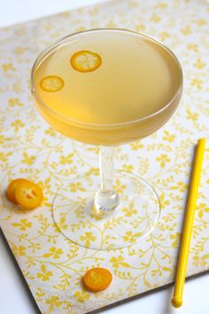 Friday Cocktail: The Kumquat Rose - The kumquat's sweet-tart flavor is perfectly balanced by the herbaceous complexity of Lillet Rose.