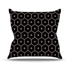 Black Hexagon Pillow