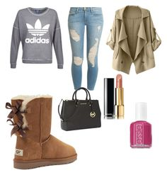 """UGG Boots"" by vanessa-82 ❤ liked on Polyvore featuring Victoria's Secret, Frame Denim, adidas, Michael Kors, Chanel and Essie"