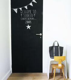 Children's room - Chalkboard door - Sodeco