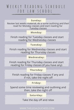 How to Create a Manageable Reading Schedule for Law School - The Legal Duchess