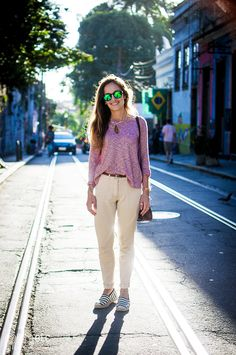 Street style rio de janeiro brazil espadrille cool look confy