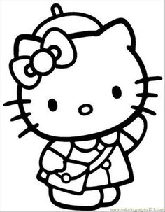Most little girls love Hello Kitty, so send them back to school with this cute coloring picture. Description from examiner.com. I searched for this on bing.com/images