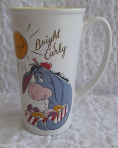 Eeyore Tall Coffe Mug Cup Disney Store Winnie The Pooh Miline Shepard Ceramic