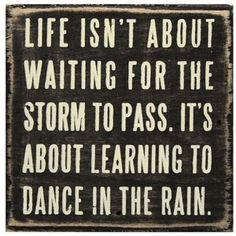 We love dancing in the rain