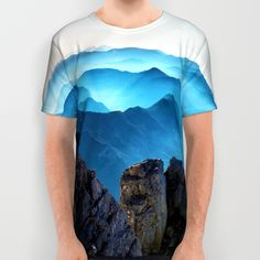 Mountains Breathe Too All Over Print Shirt by Mixed Imagery | Society6