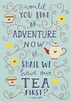 Art Prints, Illustration Art Print, Teacup Print, Peter Pan Quote, Adventure Wall Art, Quote Prints, Childrens Art, Kids Decor, Tea Biscuit by violetandalfie on Etsy