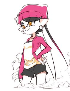 Callie looks like she's having fun. Splatoon Games, Splatoon 2 Art, Splatoon Comics, Splatoon 2 Callie, Splatoon Squid Sisters, Character Art, Character Design, Callie And Marie, Nintendo Characters