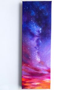 Finally this little beauty is done, though I could probably paint layers of tiny stars on it forever. This canvas is extra thick so… – Painting Long Painting, Painting & Drawing, Painting Canvas, Diy Painting, Art Galaxie, Art Mini Toile, Art Sketches, Art Drawings, Art Du Croquis