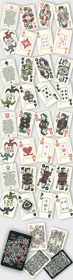 Baralho Tipográfico - Typographic deck by Adriana Amaral Pepplow, via Behance
