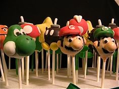 Mario, Luigi, Yoshi. . . cakepops