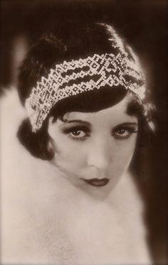 Marie Prevost, Silent Era Film Actress, Gorgeous Glamour Flapper Lady with Diamonds Art Deco Headband & Fur, Original 1920s English Postcard