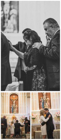 intimate catholic wedding, small wedding, wedding photography, husband and wide, bride and groom