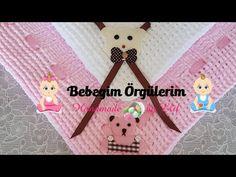 Bebekler için Kadife iple örülen şeker yada pofidik battaniye yapımı 1.bölüm - YouTube Baby Blanket Crochet, Crochet Baby, Hand Embroidery Designs, Learn To Crochet, Crochet Designs, Baby Knitting, Stitch, Christmas Ornaments, Holiday Decor
