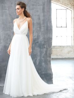 ffb2172d This gown is both relaxed and elegant. Perfect for a destination wedding on  the beach