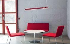Linear suspended LED luminaire MAMBA by Olle Lundberg ATELJE LYKTAN