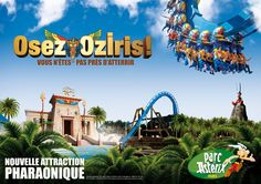 Parc Astérix in Paris is the second theme park in Paris after the famous Disneyland . The main advantage is the lack of queues to tourist attractions. Asterix Park, Attraction, Paris City, Amazing Destinations, City Lights, Statue Of Liberty, Need To Know, Travel Tips, Activities