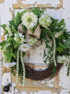 Spring Wreath for Front Door Summer Wreath White Wreath