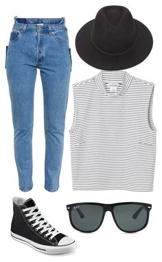 """""""Mady is amazeballs, happy birthday my lover"""" by kalinda-hodgkin ❤ liked on Polyvore featuring Monki, Vetements, Converse, Brixton and Ray-Ban"""