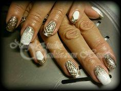 Gold, white and glitterzzzz