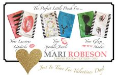 """5"""" x 8"""" Satin Lined...Perfect Little Pouches! by Mari Robeson #WatercolorArt #textiles"""