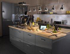 Cuisine Gris / Argent DELINIA Industriel / Loft