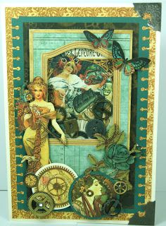 Down under crafter: Graphic 45 Steampunk card