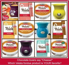 Velata Cheese & Mix in's available after April 1st, 2013  Which one do you want to try first?