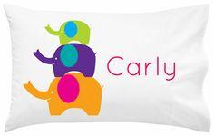 Stacked Elephants Pillowcase