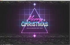 80s Christmas Artwork in Photoshop | Abduzeedo Design Inspiration